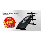 เบาะนั่งซิทอัพ Fitness Sit Up Bench รุ่น AND-6455 สีดำ สินค้ามือหนึ่ง